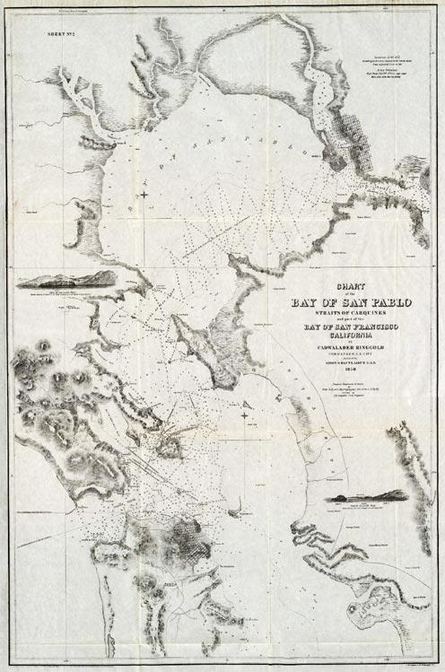 Ringgold 1850 Chart of San Francisco Bay