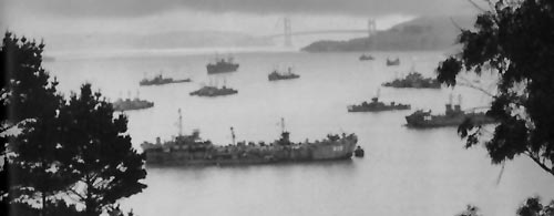 Convoy at Anchor - WWII